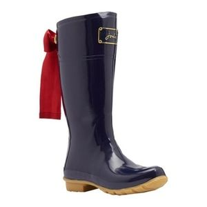 NWT Joules Evedon French Navy Tall Rain Welly Boot